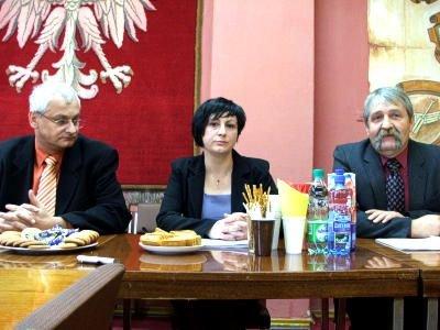Od lewej: Janusz Kalisz, Anna Dekarz i Andrzej Żurek