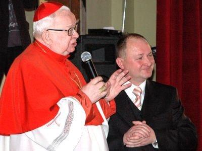 Kardynał Gulbinowicz i Dariusz Pawliszczy