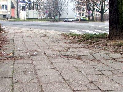Chodnik przy ul. Polnej