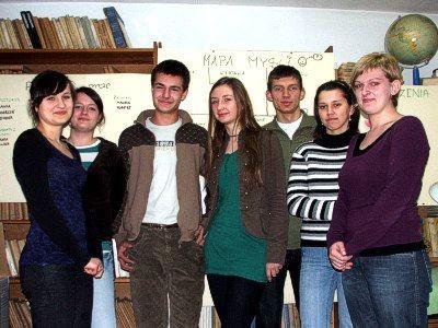 Uczestnicy projektu w biurze firmy