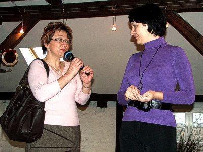Od lewej: Zdzisława Woźniak i Ewa Lijewska