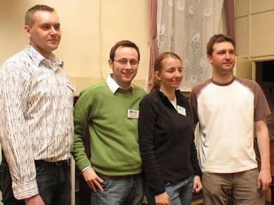 Drużyna dwóch bolesławieckich portali: Krzysztof Dębiński, Krzysztof Gwizdała, Katarzyna Bodzioch, Marcin Marczewski