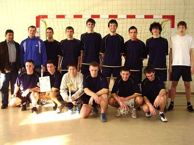 Mistrzowska drużyna chłopców z I LO