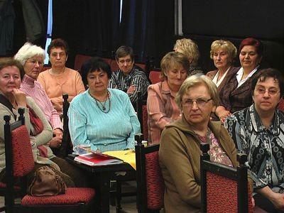 Emerytowane nauczycielki na spotkaniu
