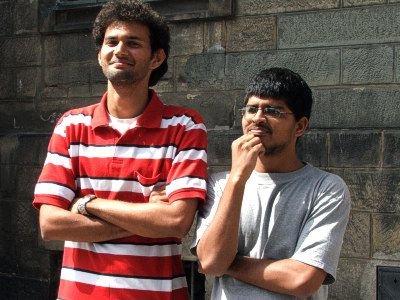 Aniket Rao (po lewej) i Denver Fernandes gościli w Bolesławcu pięć dni