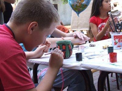 Dzieci chętnie brały udział w zajęcia plastycznych