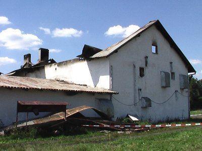 Pożar budynku gosporaczego zauważono nad ranem
