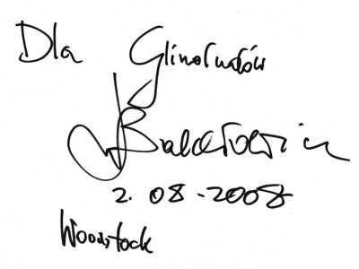 Pozdrowienia Leszka Balcerowicza dla Glinoludów