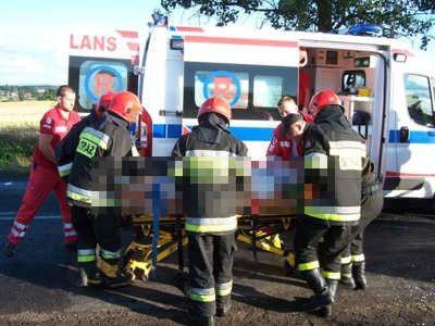 Ciężko ranny mężczyzna został przewieziony do szpitala