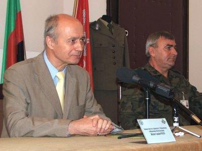 Od lewej: Czesław Piątas i pułkownik Roman Kłosiński