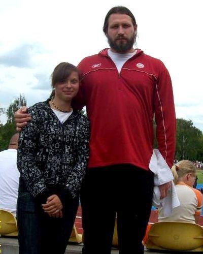 Agnieszka Dalmata i Tomasz Majewski, mistrz olimpijski z Pekinu