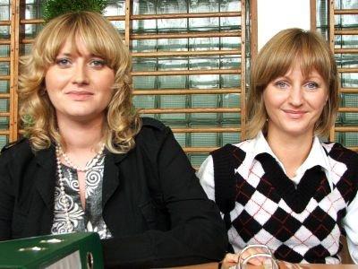 Od lewej: Eliza Szweda i Izabela Pasieka z Centrum Informacji i Planowania Kariery Zawodowej