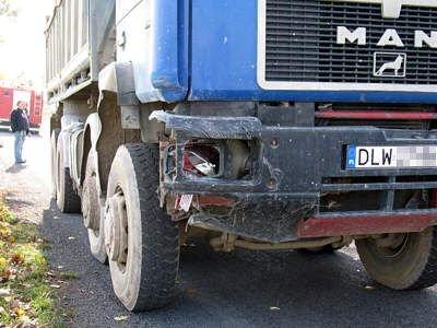 Kierowca ciężarówki jechał prawidłowo