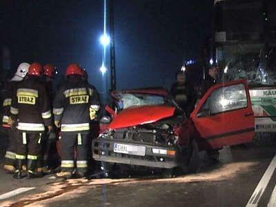 Pasażer Golfa nie miał szans na przeżycie wypadku