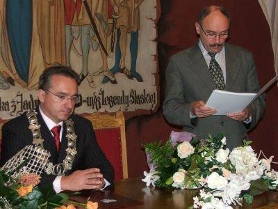 Od lewej: Piotr Roman i Włodzimierz Stoch