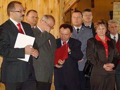 Cezary Przybylski, Karol Stasik, Stanisław Chwojnicki i Ewa Potyszka