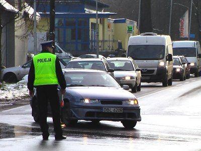 Samochody jadące od strony Lwówka Śląskiego były kierowane na ulicę Leśną