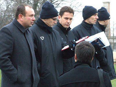 Poczynaniom piłkarzy bacznie przyglądał się prezes i kadra szkoleniowa Zagłębia
