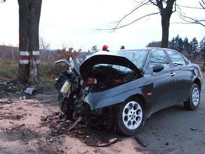 Rozbity przód Alfa Romeo