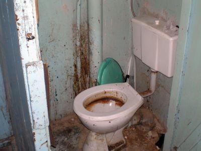 Tak wygląda toaleta w budynku przy ul. Polnej