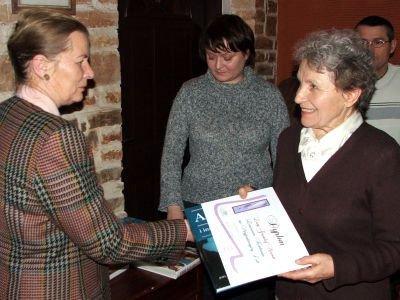 Pani Zofia odebrała nagrodę w imieniu córki, Lucy Greenleaf Norvich