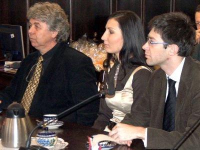 Od lewej: prof. Stanisław Bereś, Katarzyna Pielech i Marcin Ochmian