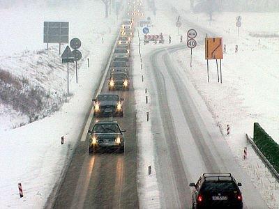 Kierowcy jadący w kierunku Olszyny musieli uzbroić się w cierpliwość