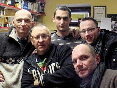 Bogusław Nowak, Jurek Owsiak, Paweł Apanasewicz, Zdzisław Garczarek i Krzysztof Gwizdała