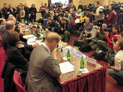 Na konferencji prasowej byli przedstawciele wszystkich ogólnopolskich i warszawskich mediów