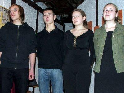 Od lewej: Dawid Wójcik, Kamil Nizioł, Barbara Lipińska i Ewa Lipińska