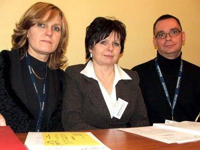 Od lewej: Danuta Stefanik, Barbara Kozomaricz i Radosław Jabłoński