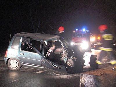Wszyscy pasażerowie Tico i kierowca trafili do szpitala