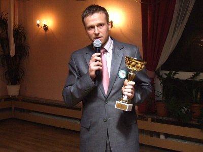 Bartosz Gruman odebrał nagrodę w imieniu MKS Bolesłavia