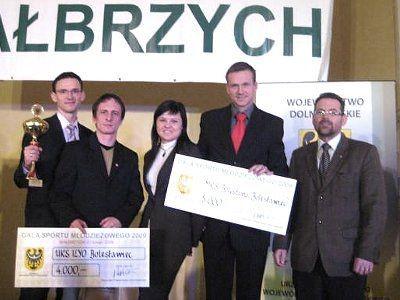 Maciej Małkowski, Mariusz Sulma, Justyna Serafińska, Bartosz Gruman i Jacek Dudyński