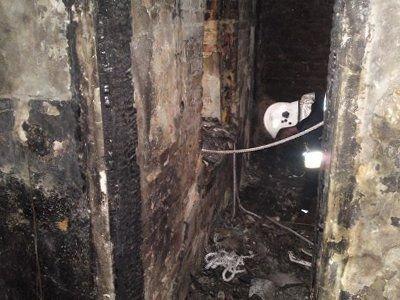 Spalone wnętrze mieszkania