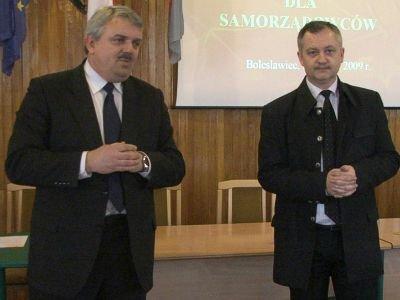 Od lewej: Cezariusz Rudyk i Dariusz Kwaśniewski