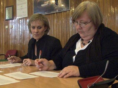 W komisji konkursowej zasiadły m.in. Ewa Ołenicz-Bernacka (po prawej) i Małgorzata Rudyk