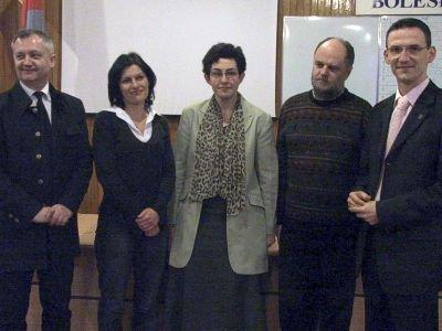 Od lewej: Dariusz Kwaśniewski, Justyna Goroch, Anna Guzik, Robert Rosiński i Maciej Małkowski