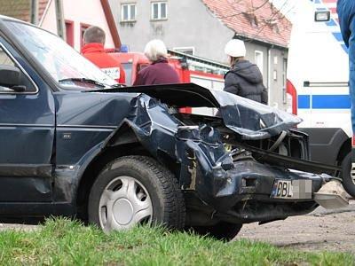Osobia kierująca Volkswagenem trafiła do szpitala