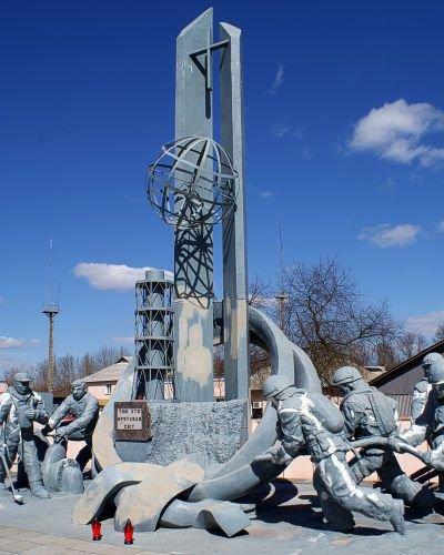 Pomnik upamiętniający poległych strażaków