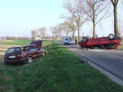 Do wypadku doszło na drodze z Bolesławca w kierunku Łazisk