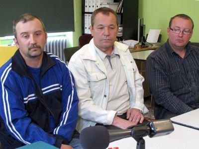 Od lewej: Artur Paszkiewicz, Dariusz Kaczorowski, Józef Hyjek