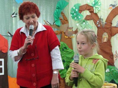 Podczas spotkania dzieci recytowały wierszyki...
