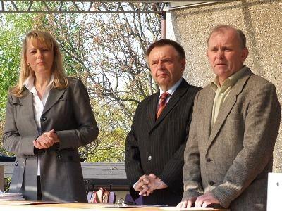 Lidia Geringer de Oedenberg, Stanisław Chwojnicki i Jerzy Zając