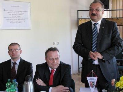 Od lewej: Wojciech Skiba, Jarosław Duda i Cezary Przybylski