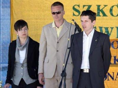 Od lewej: Monika Kumosz, Bartosz Gruman i Piotr Rysiukiewicz