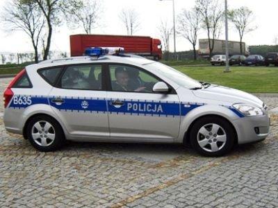 Oznakowany samochód marki Kia C'eed służyć będzie funkcjonariuszom z Kruszyna