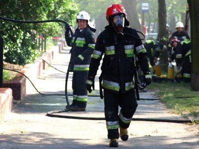 Na miejsce pożaru przyjechało w sumie 11 samochodów strażackich