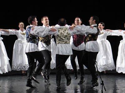 Tancerze chorwackiego zespołu Lado