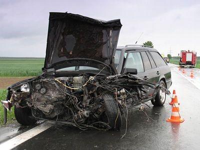 Kierowcy i pasażerowi tego auta nic się nie stało